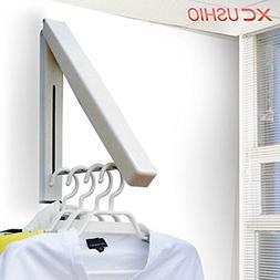 Stainless Steel Wall Hanger Retractable Indoor Clothes Hange