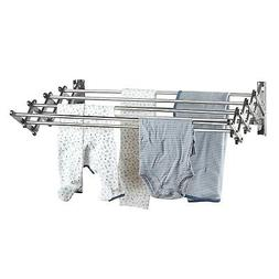 Stainless Steel Wall Mount Laundry Drying Rack: Retractable