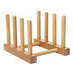 STAR-FIVE-STORE - Natural Bamboo Folding Dish Drying Rack 3