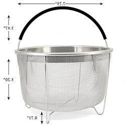 Steamer Basket for 6 or 8 qt Instant Pot Pressure Cooker, 30