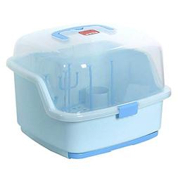 Large Baby Bottles Storage Box Drying Rack with Anti-Dust Co