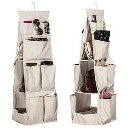 STORAGE MANIAC Hanging Handbag Polyester Canvas Organizer Pu