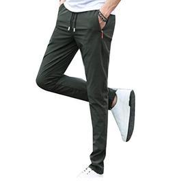 Abetteric Mens Stretch Flexible Fit Sport Drawstring Harem C