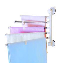 BAOYOUNI Suction Cups Swing Arm Towel Drying Rack Pants Hang
