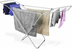 Sunbeam Metal Folding Laundry Drying Rack Collapsible Silver