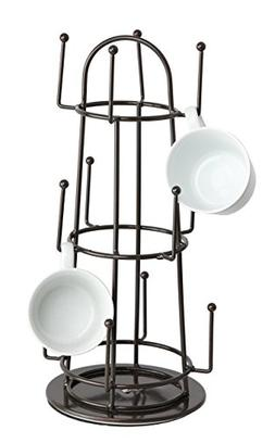 Finnhomy Swivel 12 Mug Tree Holder Rack Coffee Cup Hanger St