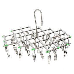 qinglele Swivel Hook Stainless Steel 35 Pegs Drying Rack Clo