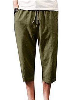 Coolred-Men Thin Half Pants Vintage Loose Fit Summer Breatha