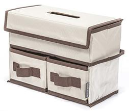 Storage MANIAC Tissue Storage Box Cover/Holder with 2 Drawer