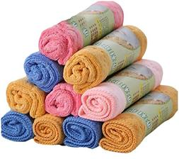 Tootless Free Scrubber Cleaning of Drying Rags Assorted Patt