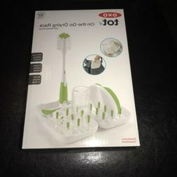 OXO Tot On-the-Go Travel Drying Rack with Bottle Brush - New