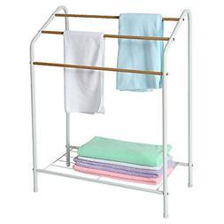 HOME BI Towel Bathroom Rack, 3 Tier Metal Freestanding Towel