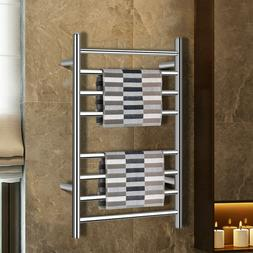 Towel Warmer Drying Rack Wall Mount Stainless Steel Polished