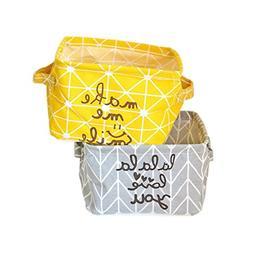 BranXin - Laundry Basket Yellow Dirty Clothes Storage Basket