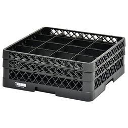 Vollrath Traex Black Plastic 16 Compartment Dishwashing Rack
