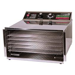 TSM 32603 5 Tray D5 Steel Dehydrator with Stainless Steel Sh