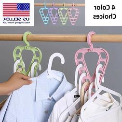 Triangle Clothes Hanger Magic Rotating Closet Organizer Spac
