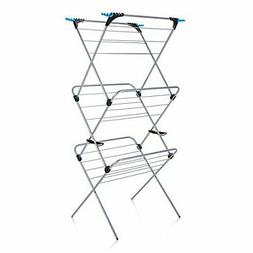 trio concertina plus indoor drying rack silver