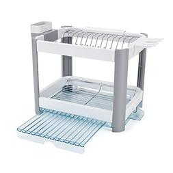 Minky 2 Tier Extending Dish Rack, White