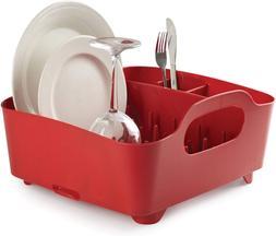 Umbra Tub Dish Drying Rack Red