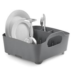 Umbra Tub Dish Drying Rack – Lightweight Self-Draining Dis