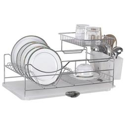 Sakura Two-tiers Compact Dish Rack / Kitchenware Dish Drying