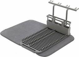 Umbra UDRY Drying Rack and Microfiber Dish Mat with Stemware