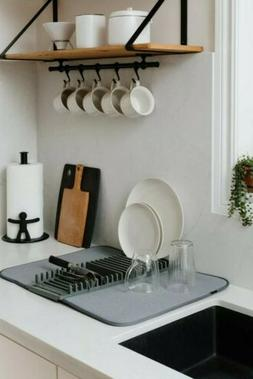 udry rack and microfiber dish drying mat
