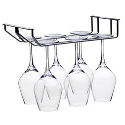 Fcoson Under Cabinet Wine Glass holder 2 Rows Stainless Stee