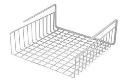 Under Shelf Basket Wire Wrap Rack White Storage Organizer fo