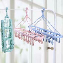 Underwear Drying Rack Clothes Hanger Laundry Clips Socks Bra