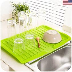 US Durable Kitchen Storage Dish Cup Drying Rack Drainer Drye
