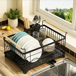 USA Stainless Steel Kitchen Shelf Dish Drying Rack Storage R
