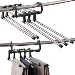 Useful 5 in 1 Multifunction Portable Pants Hanger Magic Trou