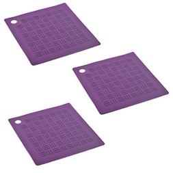 uxcell Silicone Square Nonslip Table Heat Resistant Mat Coas