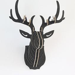 Vintage Style DIY 3D Wooden Puzzle Deer Head