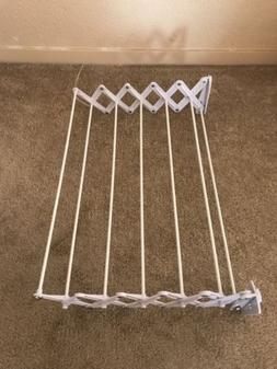 Wall Mount Hanger Accordion Clothes Drying Rack Hanging Laun