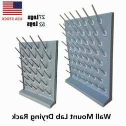 Wall Mount Laboratory Drying Rack PP Draining Peg Board for