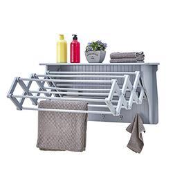 wall mount retractable accordion drying