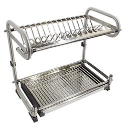 Probrico Wall Mounted Dish Drainer Rack Stainless Steel 19.6