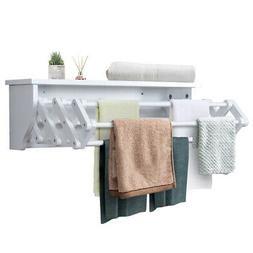 Wall-Mounted Drying Rack Folding Clothes Towel Laundry Room