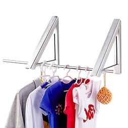 Yesurprise Wall Mounted Clothes Hanger Folding Closet Rods R