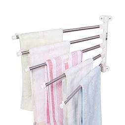 Baoyouni Wall Mounted Swing Towel Drying Rack Pants Hanger H