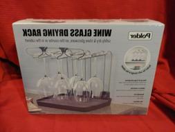 Polder Wine Glass Drying Rack for 6 Glasses