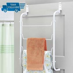 Whitmor Wire Over the Door Towel Rack White 1