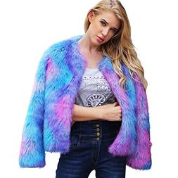 Womens Coat Hot Sale,DEATU Ladies Teen Girls Warm Faux Fur C