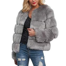 Womens Short Coat Hot Sale,DEATU Ladies Teen Girls Warm Faux