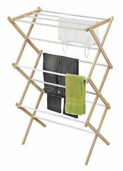 HONEY-CAN-DO Wood Accordion Drying Rack, DRY-01111