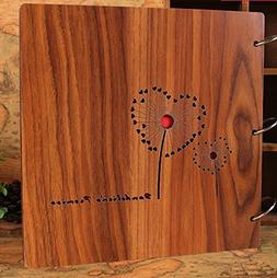 Luffar Wooden Cover DIY Photo Album 12 Inch Anniversary Scra