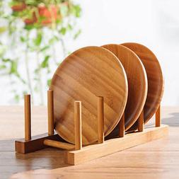 Wooden Kitchen Plates Cups Dish Stand Display Drying Dryer H